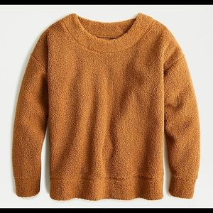 NEW $98 J CREW TEDDY SHERPA SWEATSHIRT SWEATER
